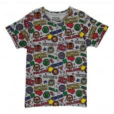T-Shirt Oversize All Over Pop Gris chiné