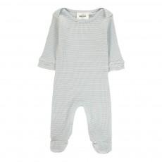Pyjama à Pieds Nid D'Abeille Bobo Bleu ciel
