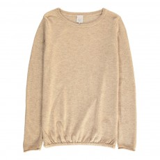 Pull Laine Bicolore Etoiles May Beige