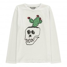 T-Shirt Tête de Mort Pot Plant Blanc