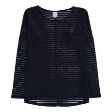 T-Shirt  Rayé Lurex Tessy Bleu marine