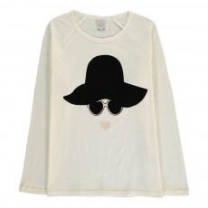 T-Shirt Visage Chapeau Ticky Ecru