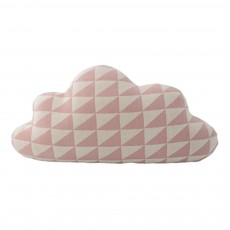 Coussin nuage triangles 50x30 cm Rose