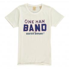 """T-Shirt """"One Man Band"""" Blanc cassé"""
