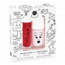 Duo rollette et vernis kids cottage Multicolore