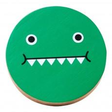 Patère en bois Dino Vert