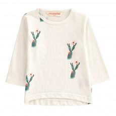 T-Shirt Cactus Wild Rose Blanc