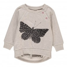 Sweat Papillon Pressions Epaule Butter Gris