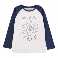 T-Shirt Run Free Mad Blanc