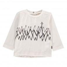 T-Shirt Zig Zag Coton Bio Ecru