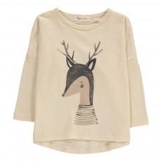 T-shirt Cerf Crème