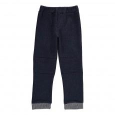 Pantalon Texturé Lurex Mine d'Or Bleu nuit