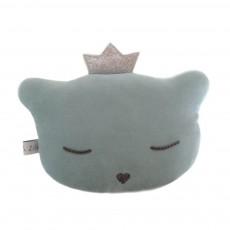 Mini coussin chat hochet 24x16 cm Vert amande