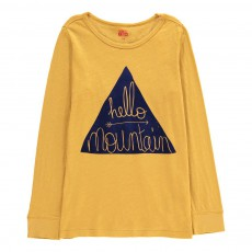 """T-Shirt """"Hello Mountain"""" Jaune"""