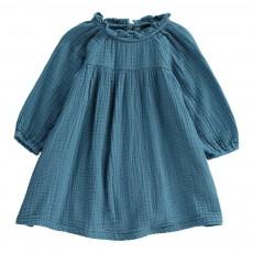 Robe Gauffrée Jam Bleu gris