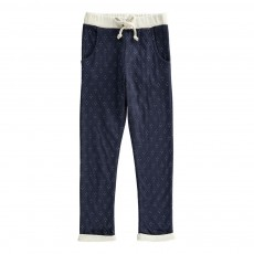 Pantalon Double Jersey Liberty Bleu nuit
