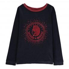 T-Shirt Indien Sioux Bleu nuit