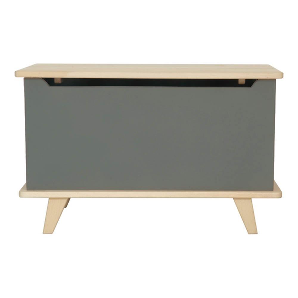 coffre jouets le coffre vert de gris laurette mobilier smallable. Black Bedroom Furniture Sets. Home Design Ideas