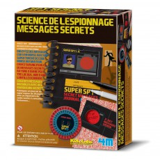 Kit science de l'espionnage et messages secrets Multicolore