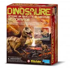 Kit déterre ton dinosaure Vélociraptor Multicolore