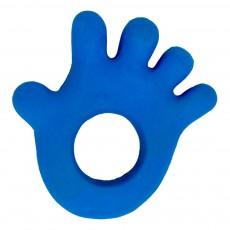 Anneau de dentition main en gomme naturelle Bleu