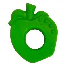 Anneau de dentition pomme en gomme naturelle Vert