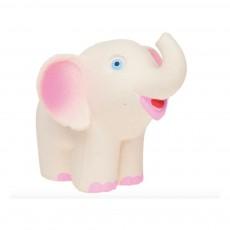 Elephant en gomme naturelle Blanc