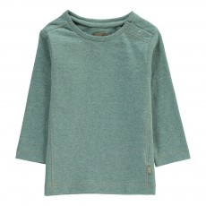 T-Shirt Coton Bio Bay Boutons Vert