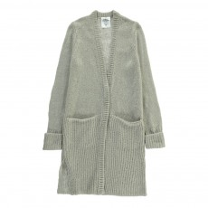 Cardigan Long Poches Hook Gris