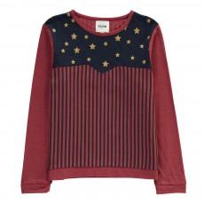 T-Shirt Etoiles Superpower Bordeaux