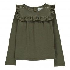 T-shirt Volants Belle Star Vert kaki