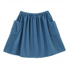 Jupe Patineuse Coton Bio Molly Bleu