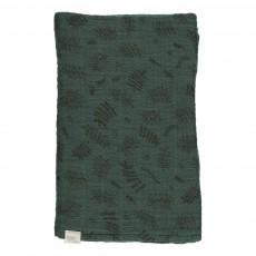 Grand lange motif feuilles 120x120 cm Vert sapin