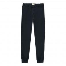 Pantalon Elastiques Chevilles Peran Bleu marine