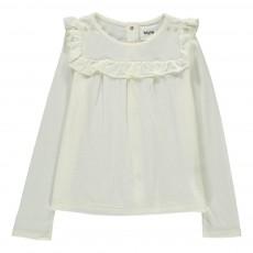 T-shirt Volants Belle Star Ecru
