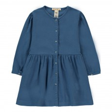 Robe Boutonnée Coton Bio Aurora Bleu