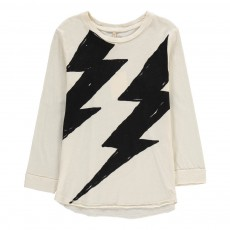 T-Shirt Coton Bio Eclair Flash Ecru