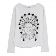 T-Shirt Indien Détails Brodés Priamin Blanc
