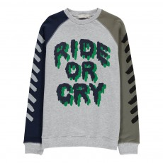 "Sweat ""Ride or Cry"" Billy Gris chiné"