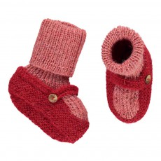 Chaussons Chaussettes Baby Alpaga Rose