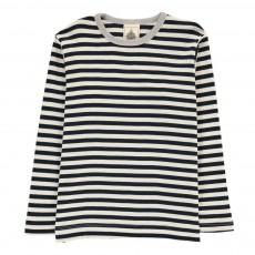 T-shirt Rayé Bleu marine
