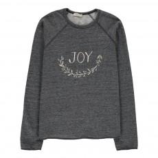 """Sweat """"Joy"""" Gris chiné"""