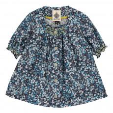 Robe Boutonnée Fleurie Willow Bleu