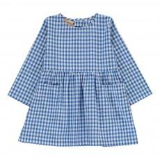 Robe Poches Carreaux Bleu