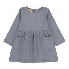 Robe Poches Chambray Bleu gris