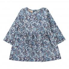 Robe Poches Fleurie Bleu