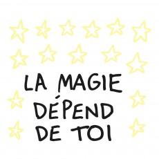Sticker phosphorescent La magie dépend de toi Phosphorescent