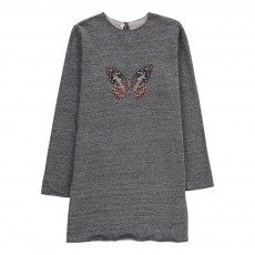 Robe Molleton Papillon Gris chiné