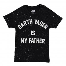 T-Shirt Oversize Darth Vader Is My Father Famvad Noir