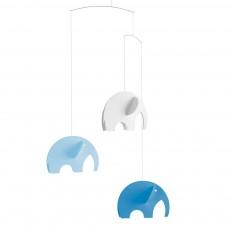 Mobile éléphants Bleu